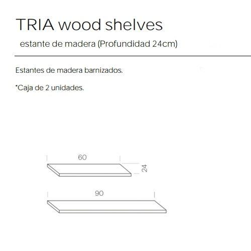 Estantes Madera de 24 Estanteria Tria Marca Mobles 114