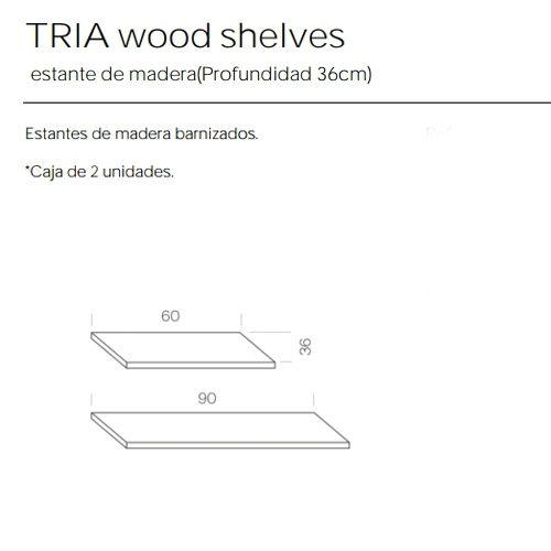 Estantes Madera de 36 Estanteria Tria Marca Mobles 114