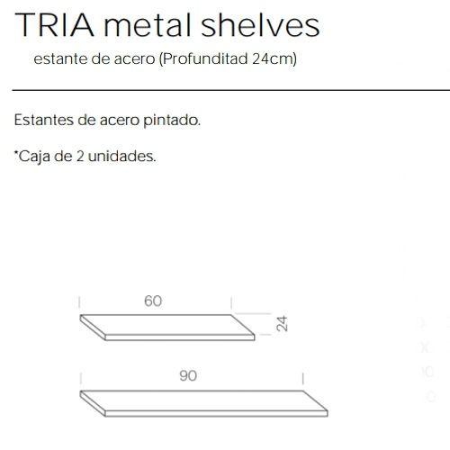 Estantes Metalicos de 24 Estanteria Tria Marca Mobles 114
