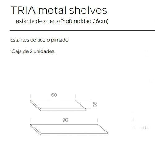 Estantes Metalicos de 36 Estanteria Tria Marca Mobles 114