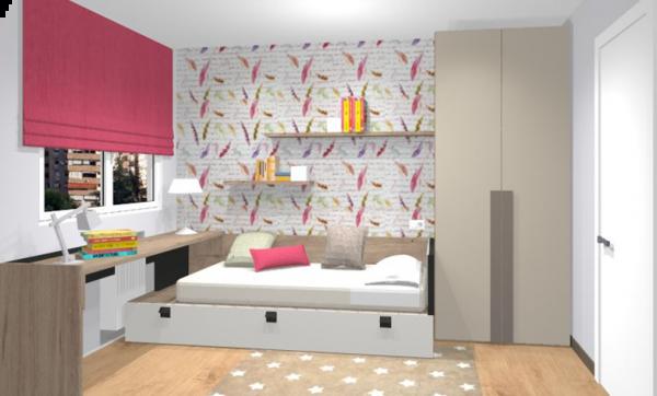 Proyecto de decoración de un dormitorio juvenil
