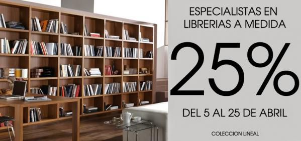25% de Descuento en Librerías a Medida de Europa 20