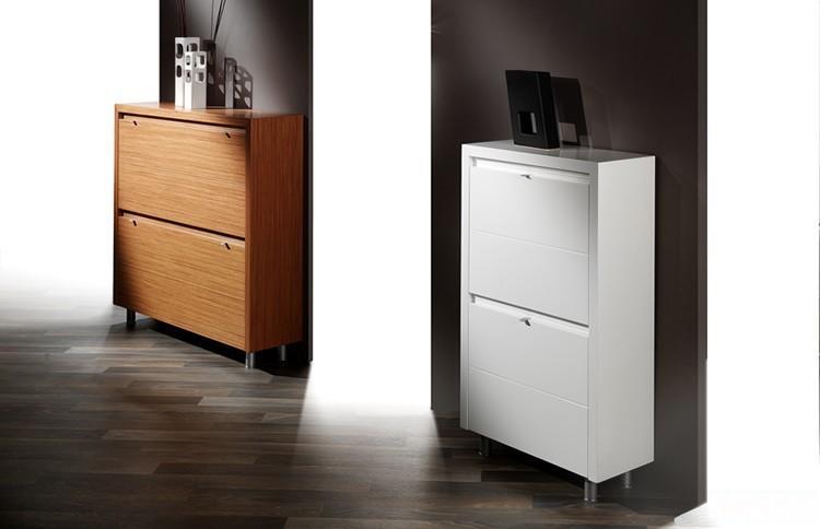 Recibidores modernos con muebles zapateros