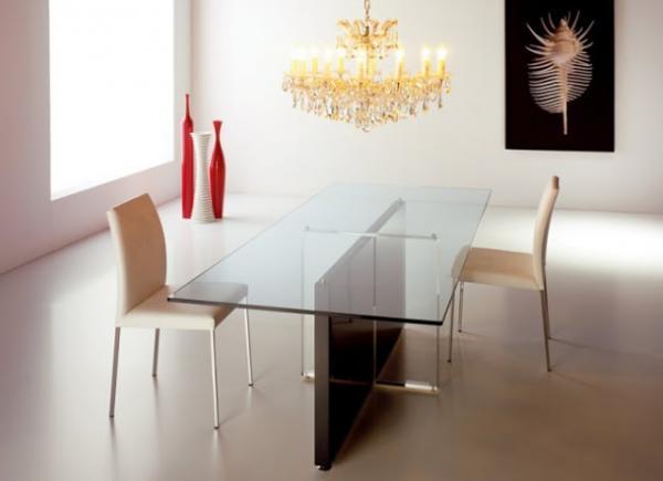 Mesas de cristal para el comedor